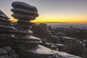 The Tornillo in Torcal at sunset