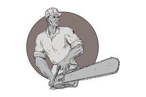 Lumberjack Arborist Chainsaw