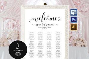Wedding seating chart Wpc44