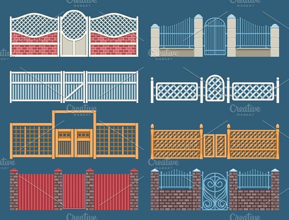 Fences And Gates Vector Set