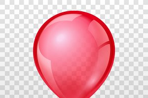Realistic red balloon