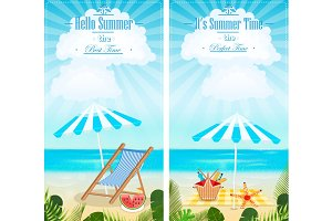 Set of vacation vertical banners