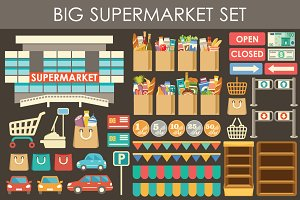 Big supermarket set