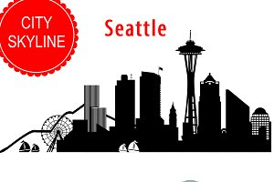 Seattle vector skyline