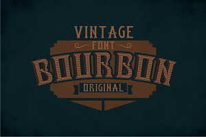 Bourbon Label Typeface