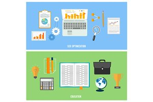Business, seo and education items
