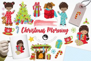 Christmas Morning illustration pack