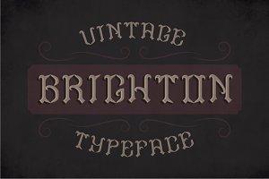 Brighton Label Typeface
