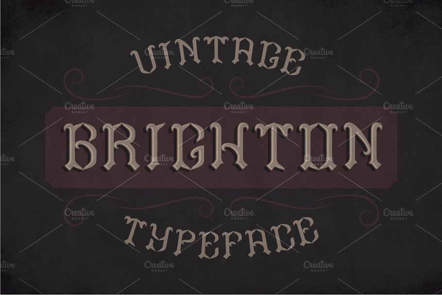 Brighton Label Typeface