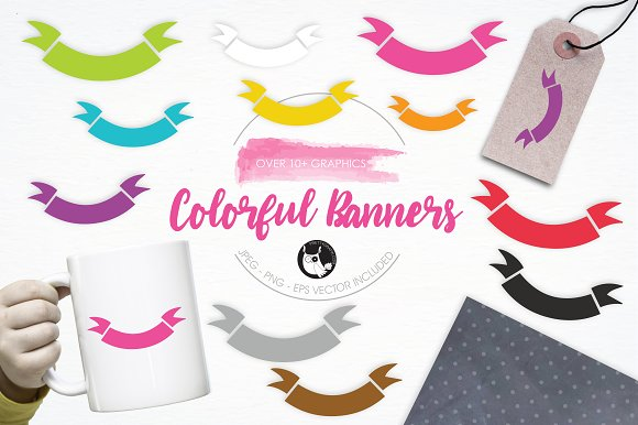 Colorful Banners Illustration Pack