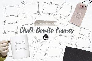 Chalk Doodle Frames illustrations