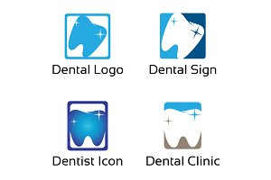 4 Dental Dentist Health Clinic Logo