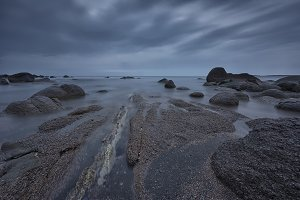 Sea sunrise at the Black Sea coast