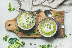 Spring detox broccoli cream soup