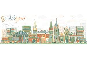 Abstract Guadalajara Skyline
