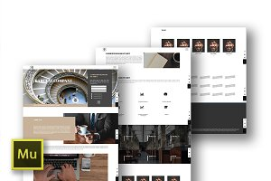 Barclay, Response Adobe Muse Theme