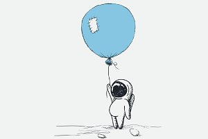 Spaceman with balloon