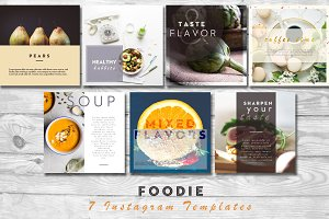 Foodie | 7 Instagram PSD Templates