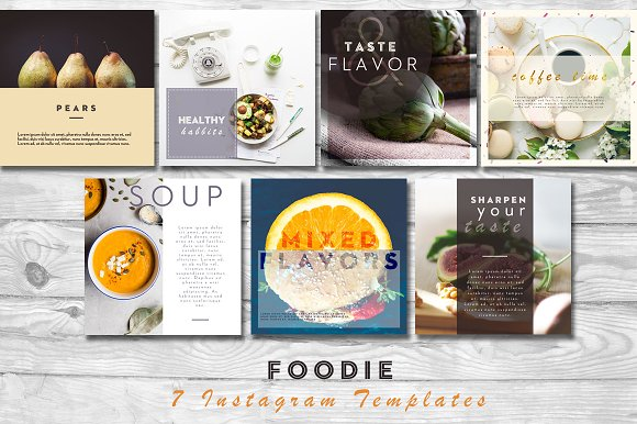 Foodie Instagram PSD Templates Templates Creative Market - Instagram ad template