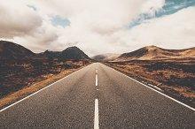 Open road in Glencoe Scotland