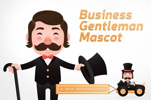 Business Gentleman Mascot