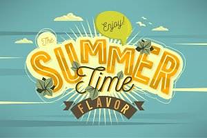 Enjoy The Summer Time Flavor Vector.