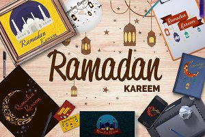 Happy Ramadan Kareem greeting card