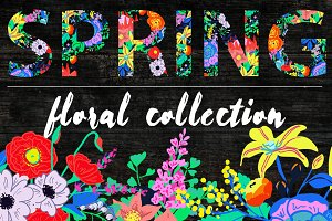 Neon Spring Floral Collection