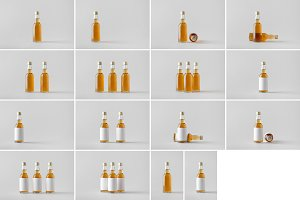 Spirits Bottle Mock-Up Photo Bundle