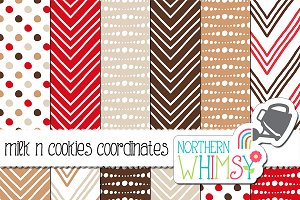 Red and Brown Geometric Patterns