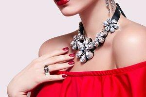 Fatal beauty in red.
