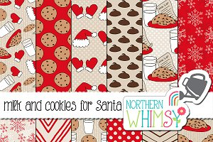 Christmas Patterns: Milk and Cookies
