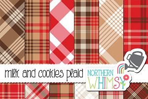 Red and Tan Plaid Patterns