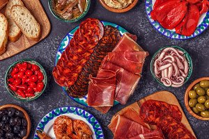 Spanish concept of tapas