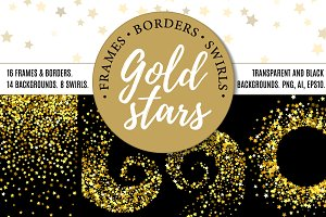 Gold stars bundle