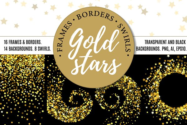 Gold stars bundle