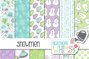 Winter Patterns - Snowmen
