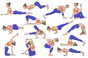 25 Yoga poses. Part 2