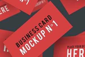 Business Card Mockup N°1