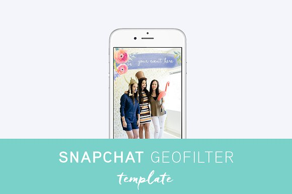 How to design a custom snapchat filter creative market blog for Snapchat geofilter template free