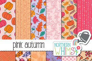 Fall Patterns - Pink Autumn