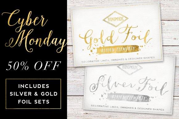 50% off Gold & Silver Foil Bundle