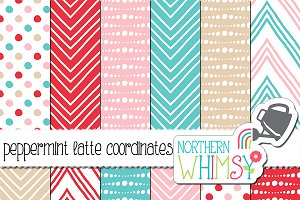 Red Pink and Blue Geometric Patterns