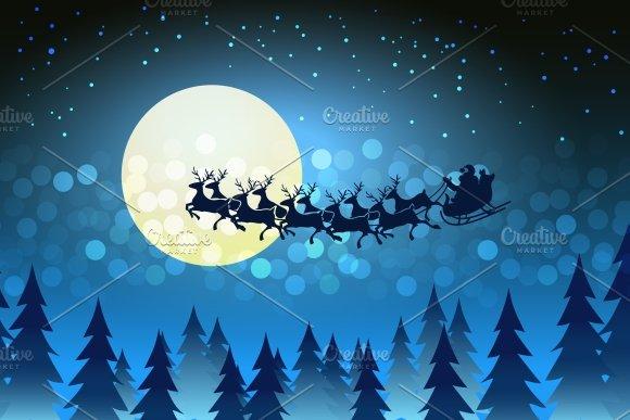 christmas santa driving his sleigh illustrations creative market