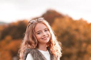 Smiling stylihs girl
