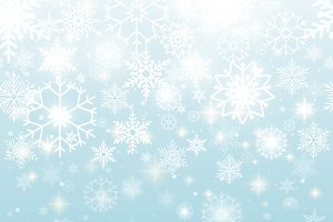 Beautiful Seamless Snowflakes