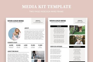 Media Kit Template 4 Page Flyer Templates Creative Market