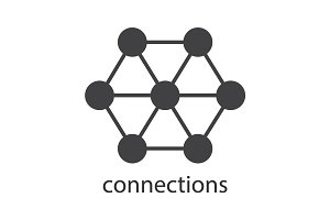 Connections glyph icon