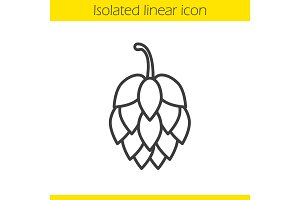 Hop cone linear icon