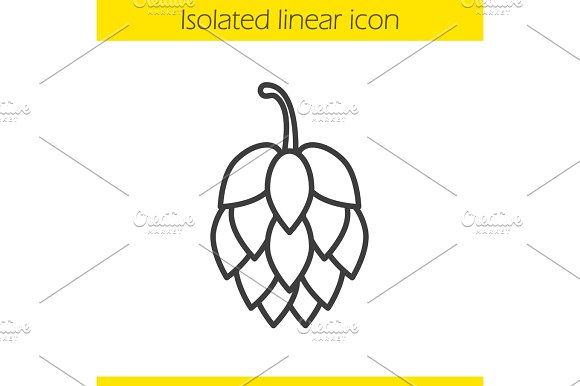 Hop cone linear icon